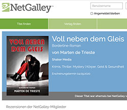 Screenshot Rezensionen Netgalley